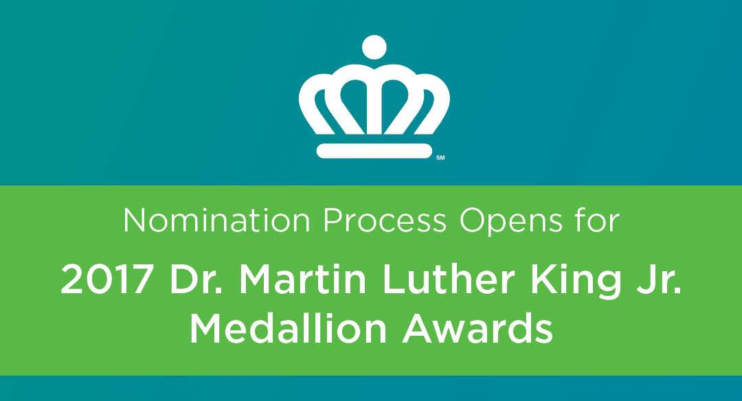 Nomination Process Opens for 2017 Dr. Martin Luther King Jr. Medallion Awards