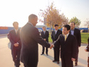 Representatives from Baoding met with Mayor Foxx and delegates prior to giving a tour of high-tech facilities
