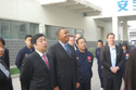 Representatives from Baoding host Mayor Foxx and delegates and give a tour of a new industrial area promoting new, high-tech and new energy industries