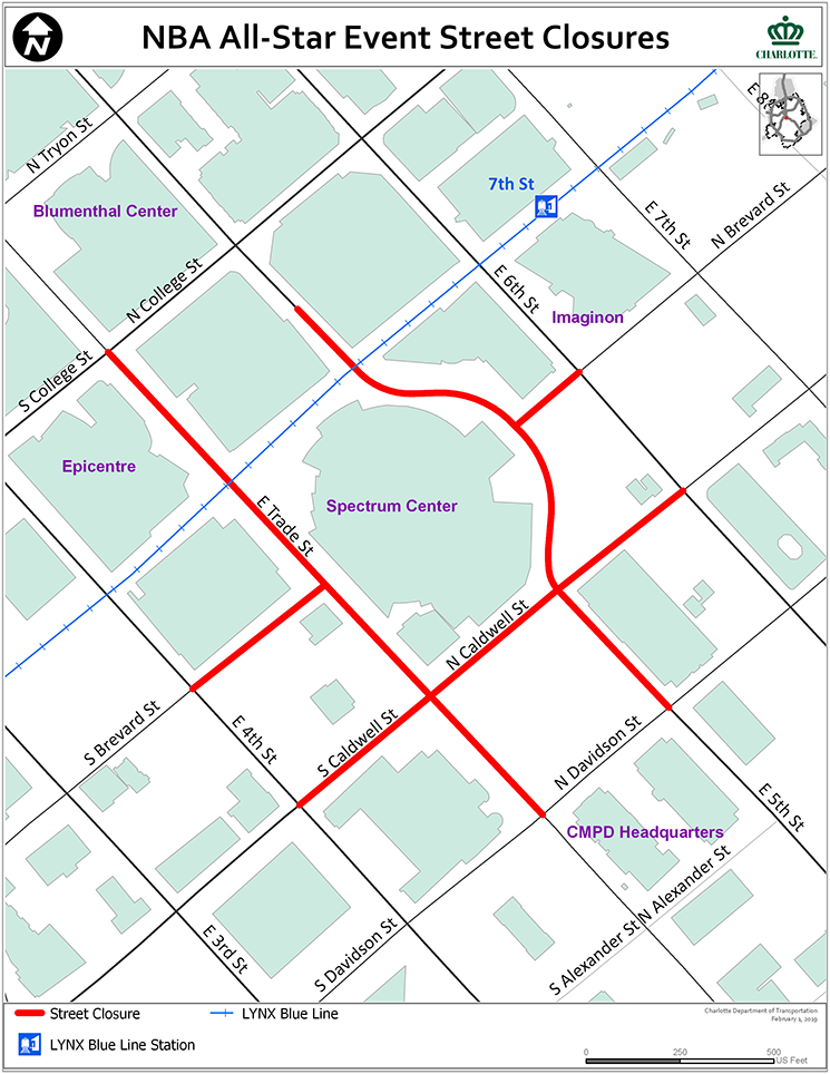 NBA AllStar Event StreetClosures