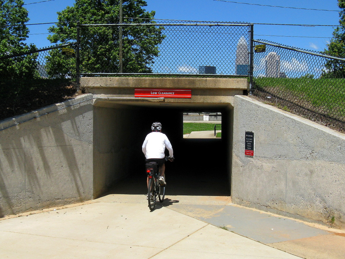 Tunnel with bike