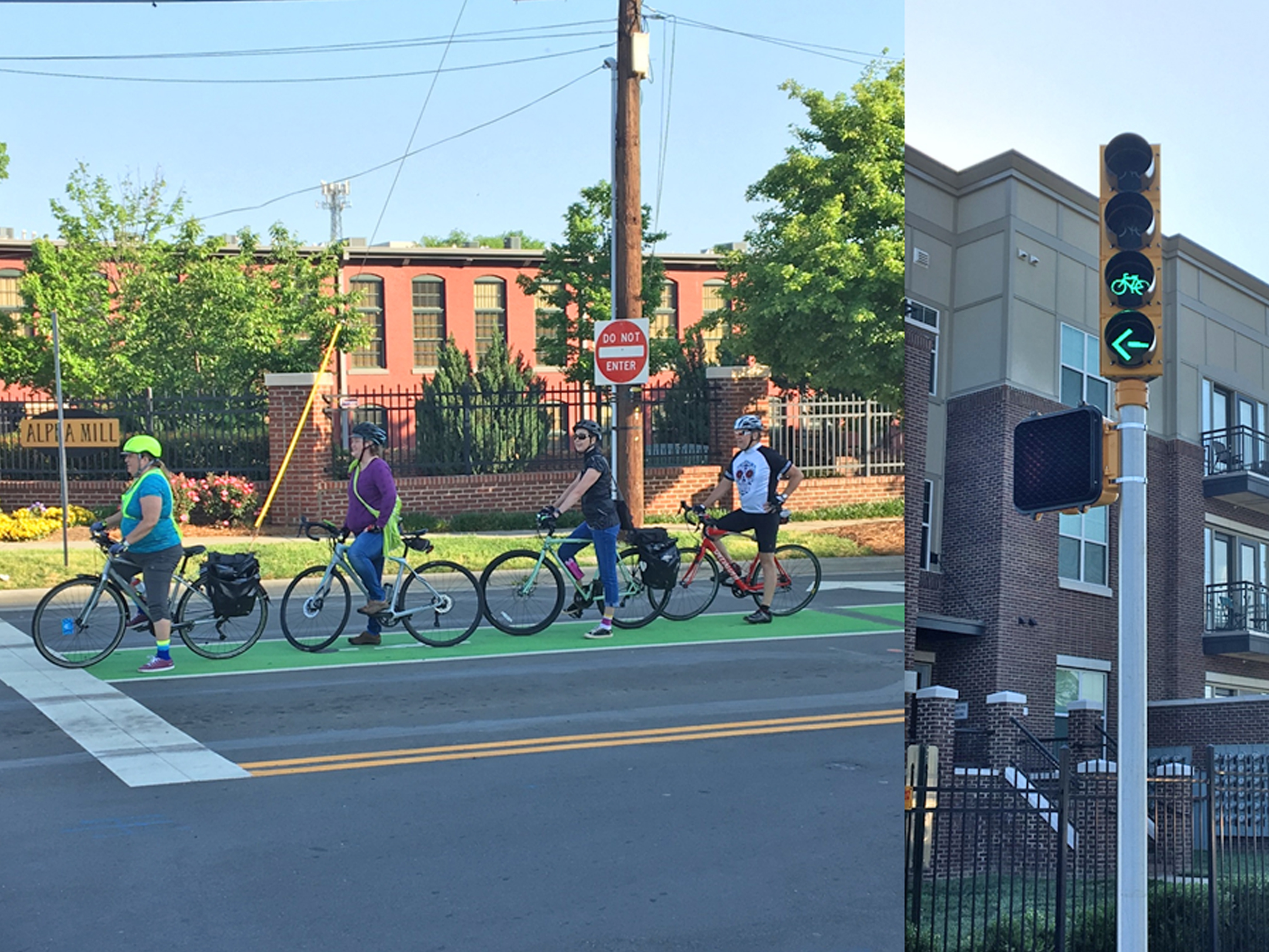 Cyclists at Crosswalk