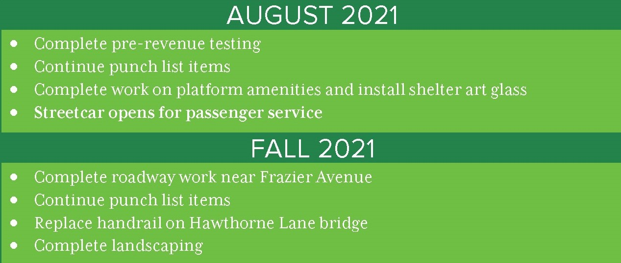 Gold Line phase 2 project schedule