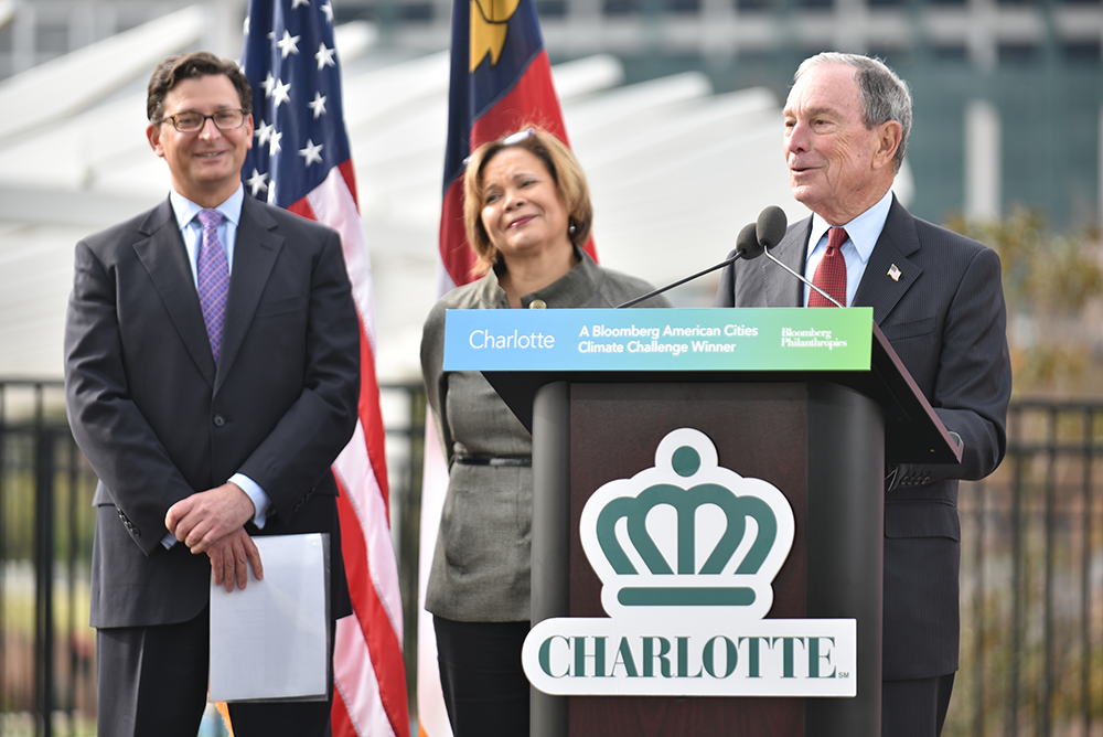 Former New York City Mayor Mike Bloomberg announces Charlotte